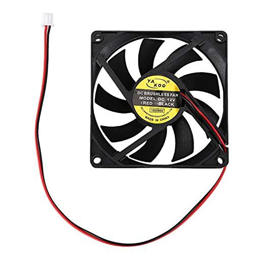 Fltaheroo 12V 0.18A Conector de 2pines Ventilador de enfriamiento de Caja de computador PC 80x80mm