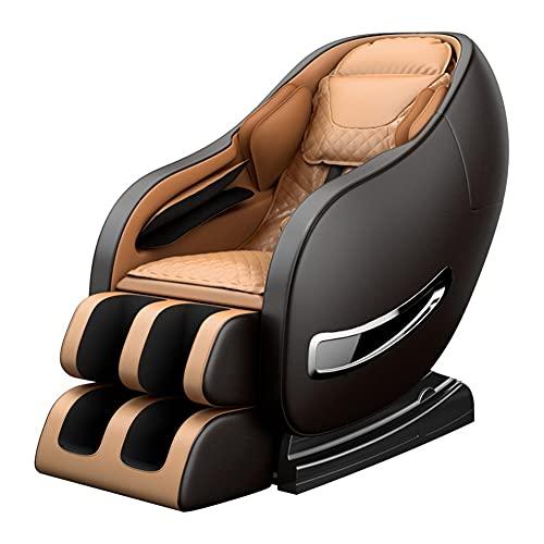 GUHUIHE Nuevo Cuerpo Completo eléctrico Cero Gravedad Silla de Masaje Shiatsu con calefacción de Bluetooth y Rodillo de pie para el hogar y la Oficina y el Regalo del día del Padre (Color : As Shown)