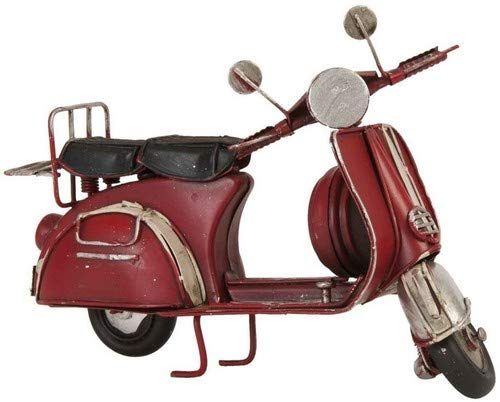 Clayre & Eef 6Y1476 Model scooter 17 * 8 * 10 cm vintage decoratie