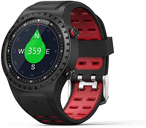 Reloj deportivo inteligente 1.3 pulgadas pantalla redonda fitness tracker, soporte tarjeta SIM y pulsera deportiva impermeable Bluetooth - A