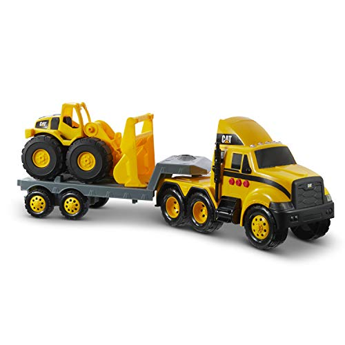 Cat Construction Heavy Mover Caterpillar Toy Semi Truck And Trailer With Lights & Sounds For $20 From Amazon After $20 Price Drop!