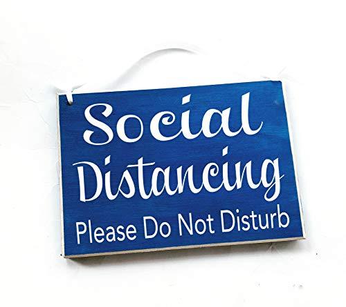 8x6 Social Distancing Please Do Not Disturb Handmade Wood Sign | Flu Quarantine Zone Please Do Not Enter Sick Patient No Visitors Door Plaque