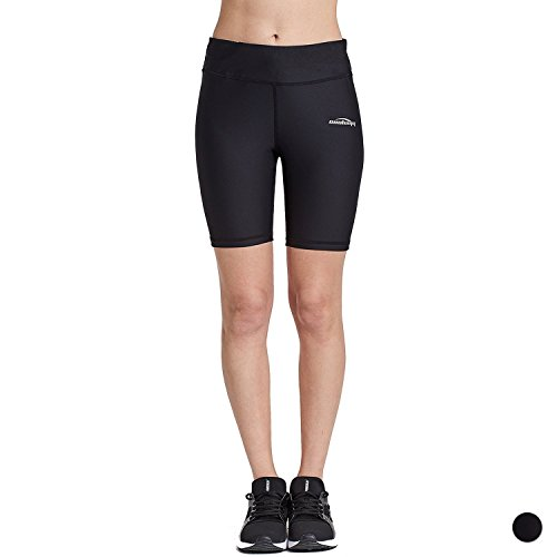 COOLOMG COOLOMG Damen Shorts Leggings Kurz Yoga Sport Training Fitness Schwarz M