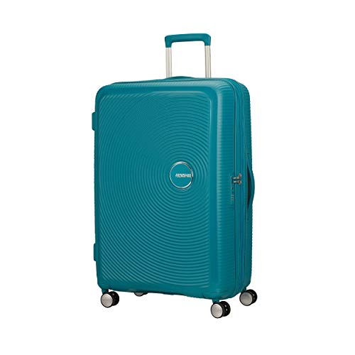 American Tourister Soundbox Spinner Large Expandable Bagaglio A Mano, Verde (Jade Green),Spinner L (77 cm - 110 L)