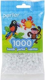 Perler PPBB05-15192 Pearl Beads, White Glitter - 1000 per Pack