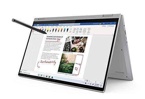 Lenovo IdeaPad Flex 5 Notebook Convertibile, Display 15.6' Full HD IPS Touch, Lenovo Digital Pen, Processore Intel Core i3-1005G1, 512 GB SSD, RAM 8 GB, Fingerprint, Windows 10, Platinum Grey