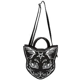 Sac à main Banned Nemesis gothique occulte Punk Pentagram Chat Cross Body Bag