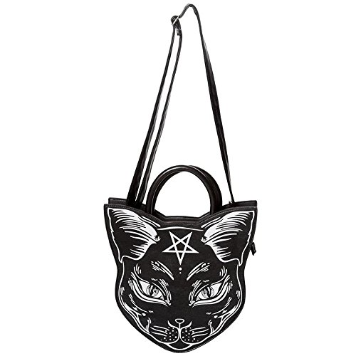 Bolso gótico con diseño de gato