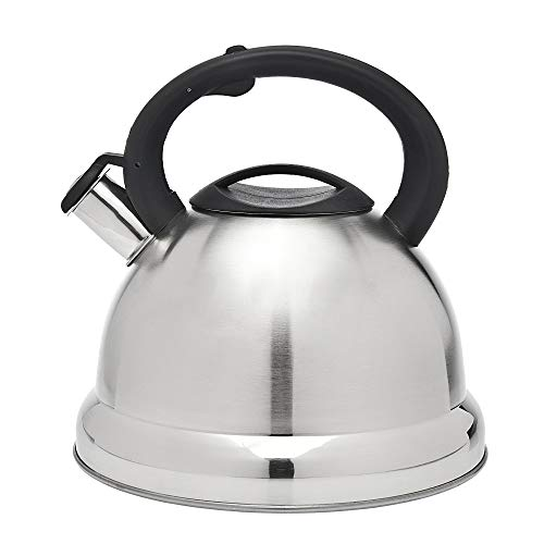Classic Jumbo Tea Kettle Stainless Steel Whistling Teapot - 4.5 Litre