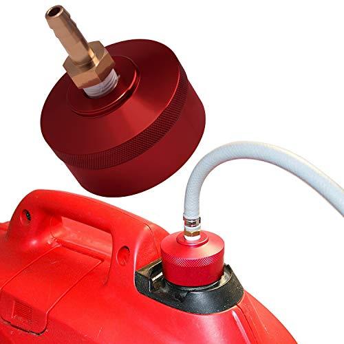 Bonbo Fuel Gas Cap with Brass Hose for Honda EU2200i EU1000i EU2000i EU3000i Handi, Champion 2000watt, Westinghouse 2200watt WH2200iXLT Generators, Upgrade Extended Run (Red)