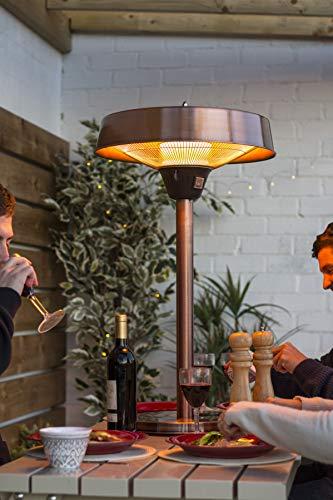 La Hacienda Copper Series Tabletop Heater Modern
