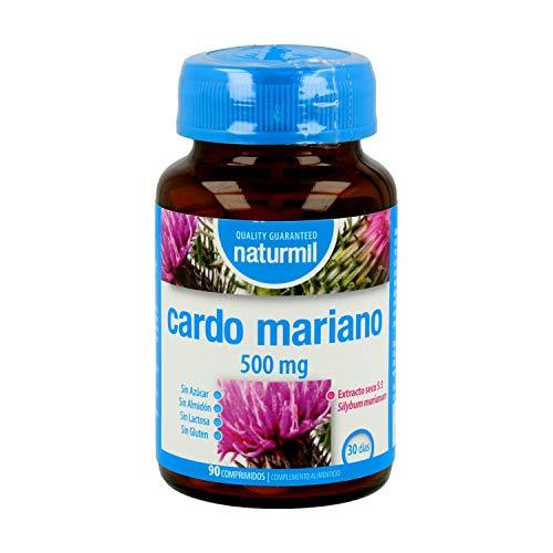 Dietmed Cardo Mariano 500 mg 180 comprimidos 90 + 90 | Depurativo, Limpiador y Desintoxicante Natural para el Hígado | Extracto seco de Silimarina | Apto para Veganos - Sin Gluten - Sin Lactosa.