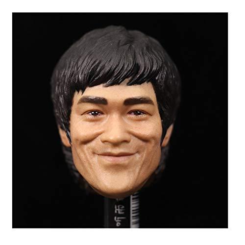 1/6 Soldado Escultura De Cabeza Masculina Bruce Lee Sonriendo Accesorios De Figura De Acción De Cuerpo Masculino