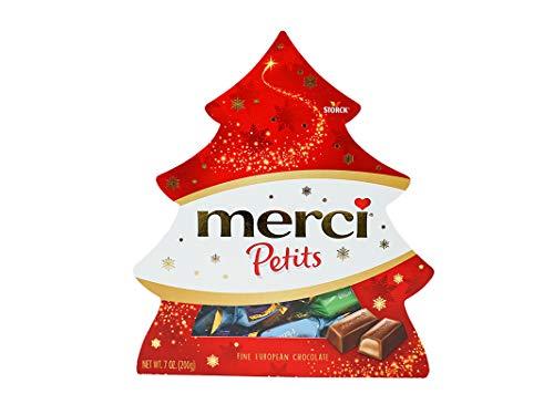 Merci Chocolate Petits Gift Box Assortment of Individually Wrapped Chocolates Tree, 7 Ounces