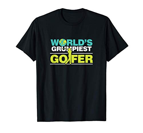 Golfspieler Mürrisch Golf Golfschläger Golfen Caddy Geschenk T-Shirt