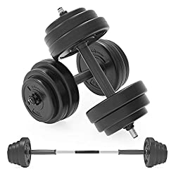 Adjustable Dumbbells Featuring a Selectable and Multi-functional Design, Ideal for Quick Weight Lifting Workouts at Home. 2-in-1 Barbell Link – Build Your Own Long Barbell with the 2 Dumbbell Bars for Exercise Variety 10kg Dumbbell Set - Giving You 2...
