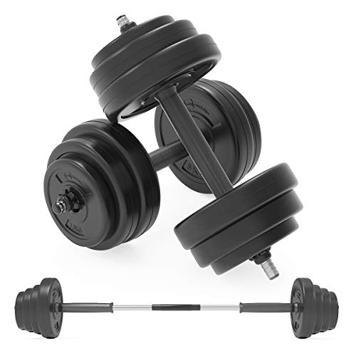 Body Revolution Dumbbell Set – Adjustable Dumbbells Weight Set with Barbell Link Accessories – Various Weights & Size Options Sold Separately (50kg)