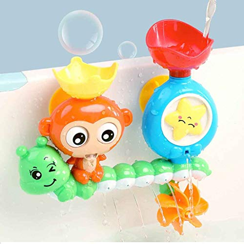 Juguetes de baño, juguete para bañera, estación de agua con una taza apilable, fuente de agua para niños