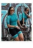 Triatlón de ciclismo de mujer Jersey largo/de manga corta de manga corta, conjunto de verano, traje de baño, traje de baño, préstamo deportivo. (Color : 10, Size : Medium)