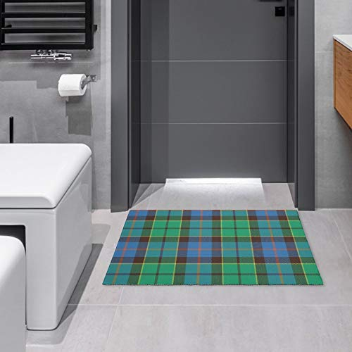 Zerbino per interni ed esterni Forsyth Tartan zerbino zerbino arredo bagno cucina tappeto antiscivolo porta ingresso tappetini 39,9 x 59,9 cm