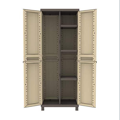 Armoire en résine shabby shara, 181 x 68 x 39 cm