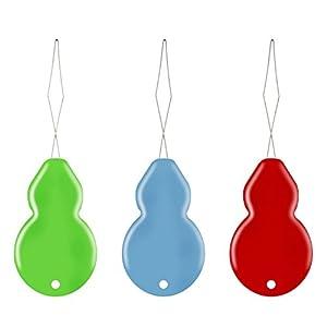 20 Piezas Enhebradores de Agujas de Plástico con Caja Transprente, Colores Variados