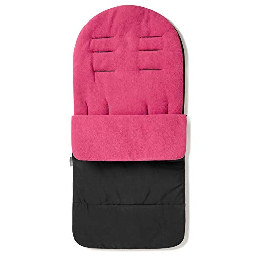 FYLO Premium Footmuff/Cosy Toes Fleece Lined Cosytoes Universal Fitting for Pushchairs Strollers Prams Buggy Baby 100cm - Pink Rose