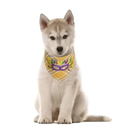 Mardi Gras Dog Bandana Cute Pet Carnival Collar