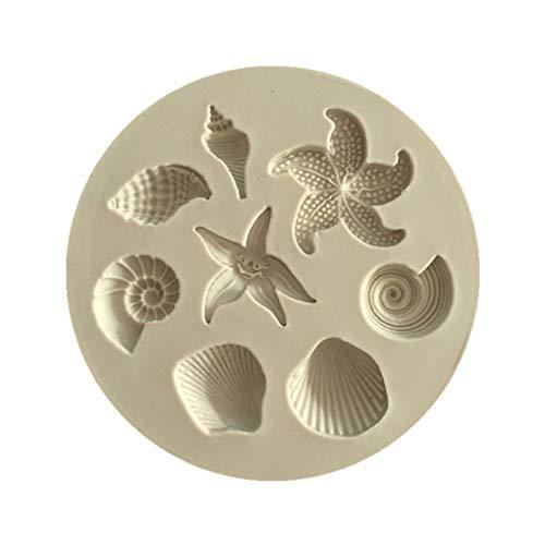 Masterein 3D Seashell Mignon chocolats en Silicone en Forme de Moule Bricolage gâteau Jelly Fondant Cuisson Moule Cuisine Accessoires