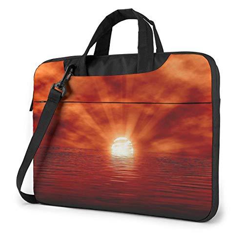 IUBBKI Laptop Case Computer Bag Sleeve Cover Sunset Sea Waterproof Shoulder Briefcase 13 14 15.6 Inch