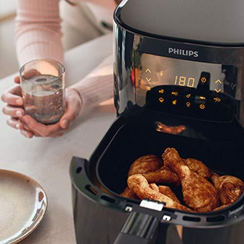 Philips HD9252/90 Airfryer - Freidora de aire caliente original (1400 W, para 2-3 personas, 800 g/4,1 l, pantalla digital), color negro