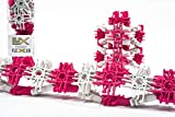 Lux Blox Pink and White Fidget Flexer Set (30 Pieces) Flexible and Versatile Construction Blocks