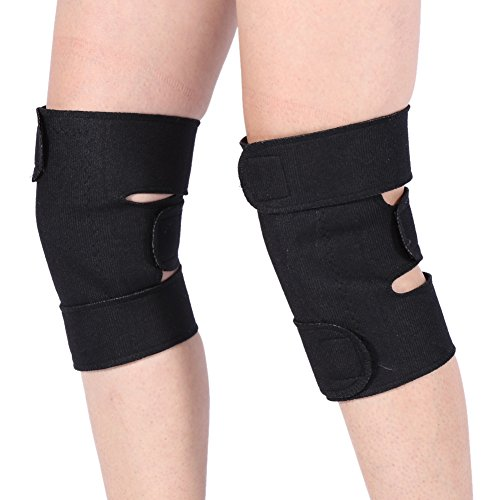 Heated Knee Brace, Portable Tourmaline Knee Support Brace, Magnetic Self Heating Pad, Therapy Knee Wraps for Arthritis Joint Pain Relief Injury Recovery