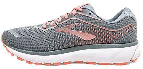 Brooks Damen Ghost 12 Running Schuh, Grau (Lead/Grau/Desert), 40
