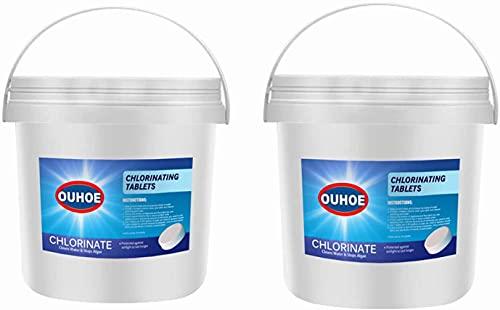 Chlorine Pool Tablets, Chlorinating Tablets Swimming Pool, 170Pcs Chlorine Swimming Pool Tablet Tablets Chlorine (300pcs X2)