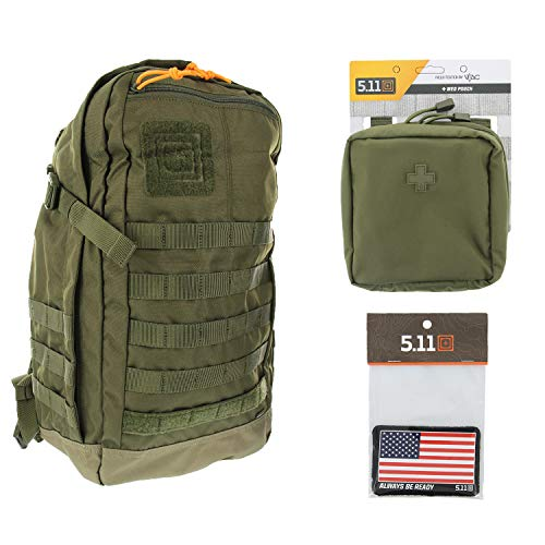 5.11 Rapid Origin Tactical Backpack Med First Aid Patriot Bundle - TAC OD