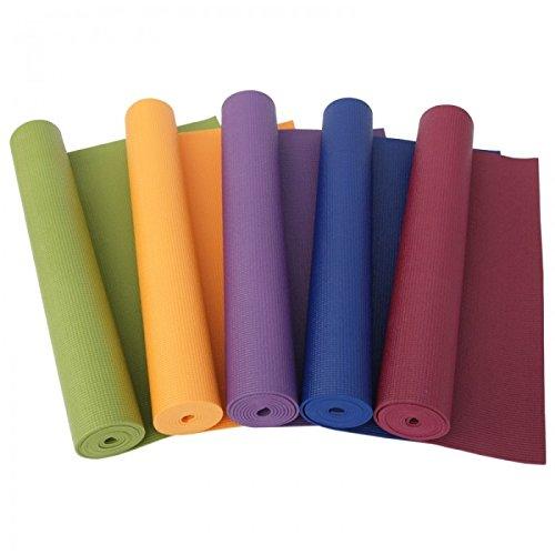 takestop® Tappeto Tappetino 180x50 CM Doppio Spessore 6 mm FAG_35458 per Aerobica Fitness Yoga Palestra Stretching Allenamento Colore Casuale