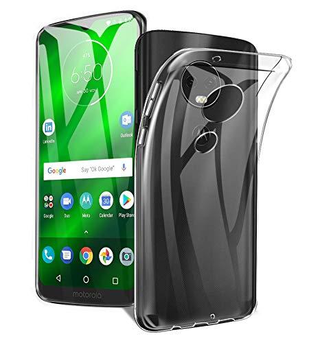 A-VIDET Hülle für Moto G7 Play,Ultradünnes Silikon Mattierte Softschale R&umschutz Anti-Fall Anti-Fingerabdruck Gehäuse Einfache Rückenschutzhülle für Moto G7 Play(Transparent)
