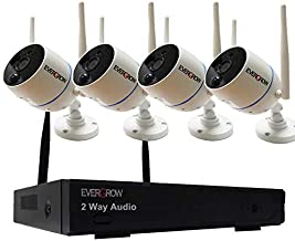 H265+ Security Camera System Wireless, EVERGROW 8 Channel 3MP Security Camera System with 4pcs Wireless IP Security Camera, 1TB Hard Drive Pre-Installed, Plug and Play(CAM-WIFI-4CH-2MP-22)