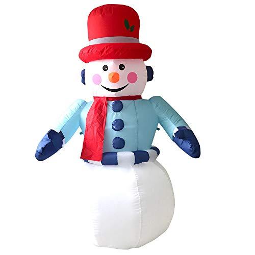Kasachoy Muñeco de nieve de Navidad, adornos luminosos, muñeco de nieve inflable, decoración para centro comercial al aire libre