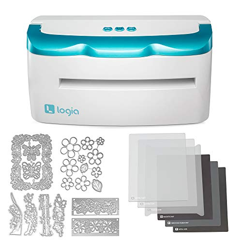 Logia Electronic Die Cutter & Embossing Machine – High Pressure Die-Cutting Machine w/9 Inch Feeding Slot – Compatible w/Most Metal Dies & Embossing Folders for Arts & Crafts Scrapbooking & Cardmaking