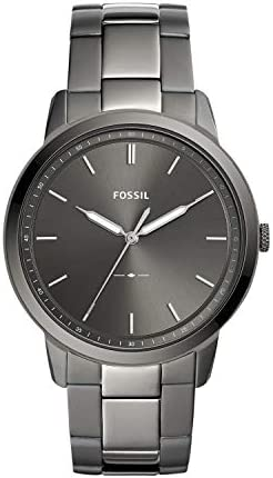 Fossil Men s Minimalist Quartz Stainless Three Hand Watch Color Smoke Model FS5459 product image