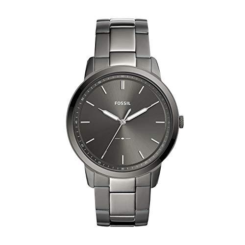 Fossil Herren Analog Quarz Uhr mit Edelstahl Armband FS5459