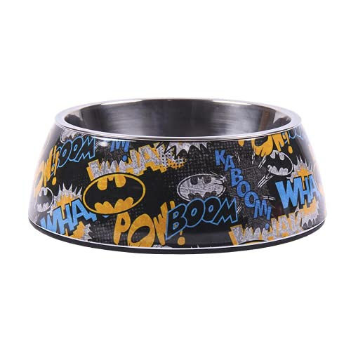 Cerdá - For Fan Pets | Comedero para Mascotas de Batman - Licencia Oficial DC Comics®