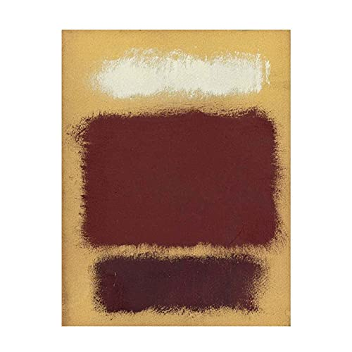 Mark Rothko rojo marrón Cuadros Decoracion Foto Canvas Cuadro Lienzos Decorativos Decoración Pared Cuadros de Salón Cada Una Lmpreso (70x93cm (28x37 pulgadas), sin marco)