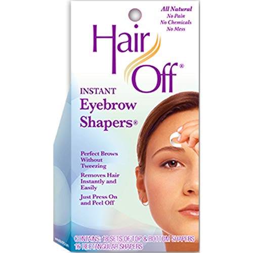 Hair off hair remover instant eyebrow shapers - 18 ea