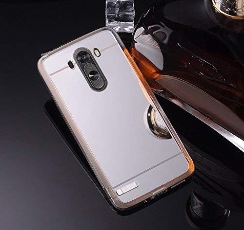 Funda Compatible LG G3 Carcasa LG G3.KunyFond Carcasa Espejo Mirror Case Flexible Cubierta Silicona Ultra Delgado TPU Alta Resistencia Gel Transparente Thin Slim Bumper Completo Anti-Golpes-Silver