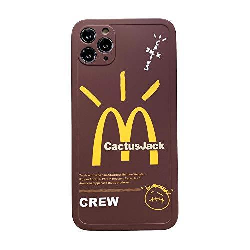 Wyalm INS CACTUSJACK MCCUTE Crew TELEFONO DE TELÉFONO para iPhone 12 Mini 11 Pro X XR XS MAX 7 8 Plus Letras Lindas Etiqueta Cubierta DE SILICÓN Suave (Color : 1, Size : Iphone12 Pro MAX)