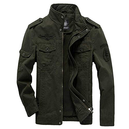 Baumwolle Militärjacke HerrenFrühling Herbst Mäntel SoldatMA-1 Style Army Jacken Herren Marke Slothing Herren Bomberjacken Plus Size M-6XL