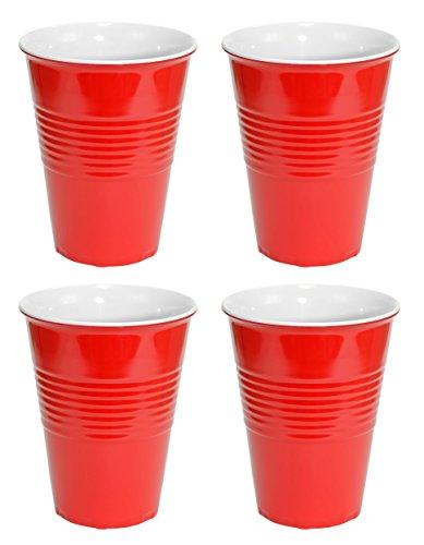 Fairly Odd Novelties Tasse en plastique rigide Rouge 4,3 x 4,3 x 5,39 cm